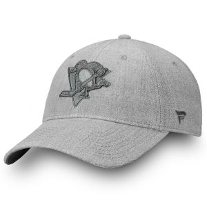 Men's Pittsburgh Penguins Fanatics Branded Gray Team Haze Adjustable Snapback Hat