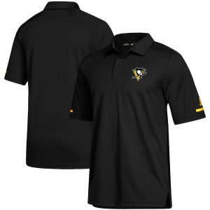 Men's Pittsburgh Penguins adidas Black Game Day climalite Polo