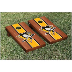 Pittsburgh Penguins 24″ x 48″ Rosewood Cornhole Game Set