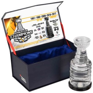 Pittsburgh Penguins Authentic 2017 Crystal Stanley Cup Trophy – Ice From Stanley Cup Final