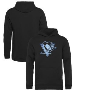 Youth Pittsburgh Penguins Black Pond Hockey Pullover Hoodie