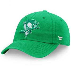 Men's Pittsburgh Penguins Fanatics Branded Green St. Patrick's Day Fundamental Adjustable Hat