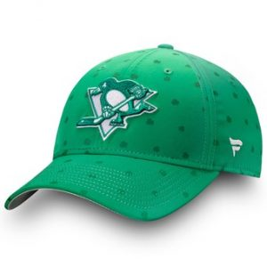 Men's Pittsburgh Penguins Fanatics Branded Green St. Patrick's Day Speed Flex Hat