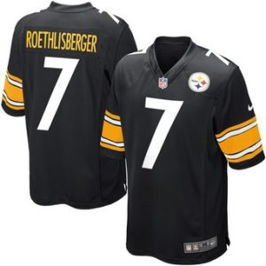 Ben Roethlisberger Pittsburgh Steelers Nike Youth Team Color Game Jersey – Black