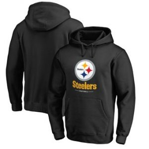 Pittsburgh Steelers NFL Pro Line by Fanatics Branded Team Lockup Pullover Hoodie – Black