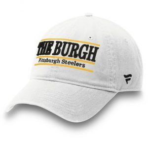 Pittsburgh Steelers NFL Pro Line by Fanatics Branded The Burgh Nickname Bar Adjustable Hat – White