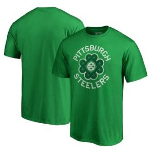 Pittsburgh Steelers NFL Pro Line by Fanatics Branded Big & Tall St. Patrick's Day Luck Tradition T-Shirt – Green