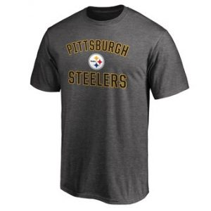 Pittsburgh Steelers NFL Pro Line Victory Arch T-Shirt – Gray