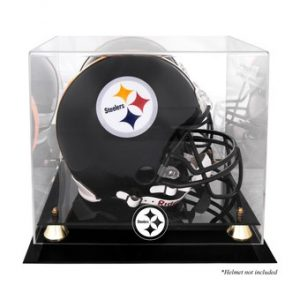 Pittsburgh Steelers Fanatics Authentic Golden Classic Helmet Display Case with Mirrored Back