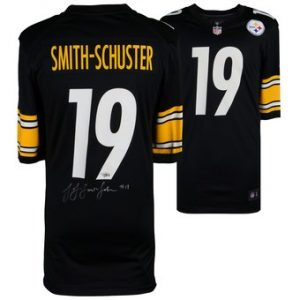 Autographed Pittsburgh Steelers JuJu Smith-Schuster Fanatics Authentic Black Nike Game Jersey