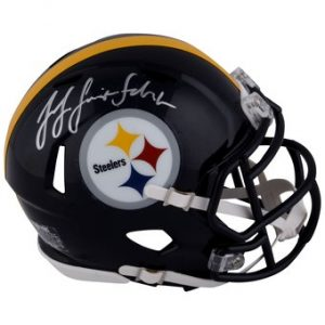 Autographed Pittsburgh Steelers JuJu Smith-Schuster Fanatics Authentic Riddell Speed Mini Helmet Manufacturer Direct Item