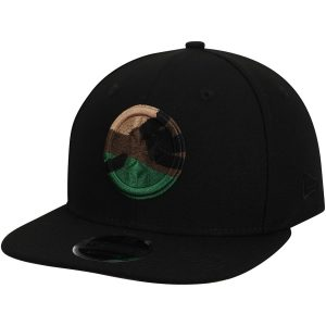 Pittsburgh Steelers New Era Camo Capped 9FIFTY Adjustable Hat – Black