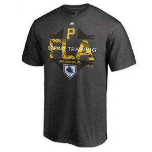 Men's Pittsburgh Pirates Majestic Heather Gray 2019 Spring Training Grapefruit League Winner T-Shirt