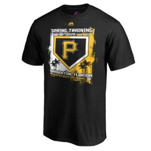 Men's Pittsburgh Pirates Majestic Black 2019 Spring Training Grapefruit League Base on Ball T-Shirt