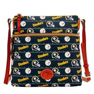 Pittsburgh Steelers Dooney & Bourke Women's Team Color Nylon Crossbody Purse – Black