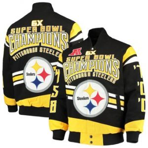 Pittsburgh Steelers G-III Extreme Gladiator Commemorative Cotton Twill Jacket – Black