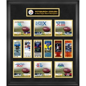 Pittsburgh Steelers Fanatics Authentic Framed Super Bowl Replica Ticket & Score Collage – Limited Edition of 1000