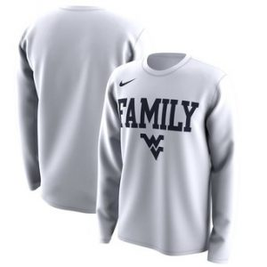 West Virginia Mountaineers Nike March Madness Family on Court Legend Basketball Performance Long Sleeve T-Shirt – White
