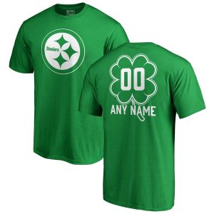 Pittsburgh Steelers NFL Pro Line by Fanatics Branded St. Patrick's Day Personalized Name & Number T-Shirt – Kelly Green