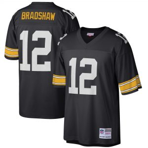 Men's Pittsburgh Steelers Terry Bradshaw- Black Legacy Replica Jersey